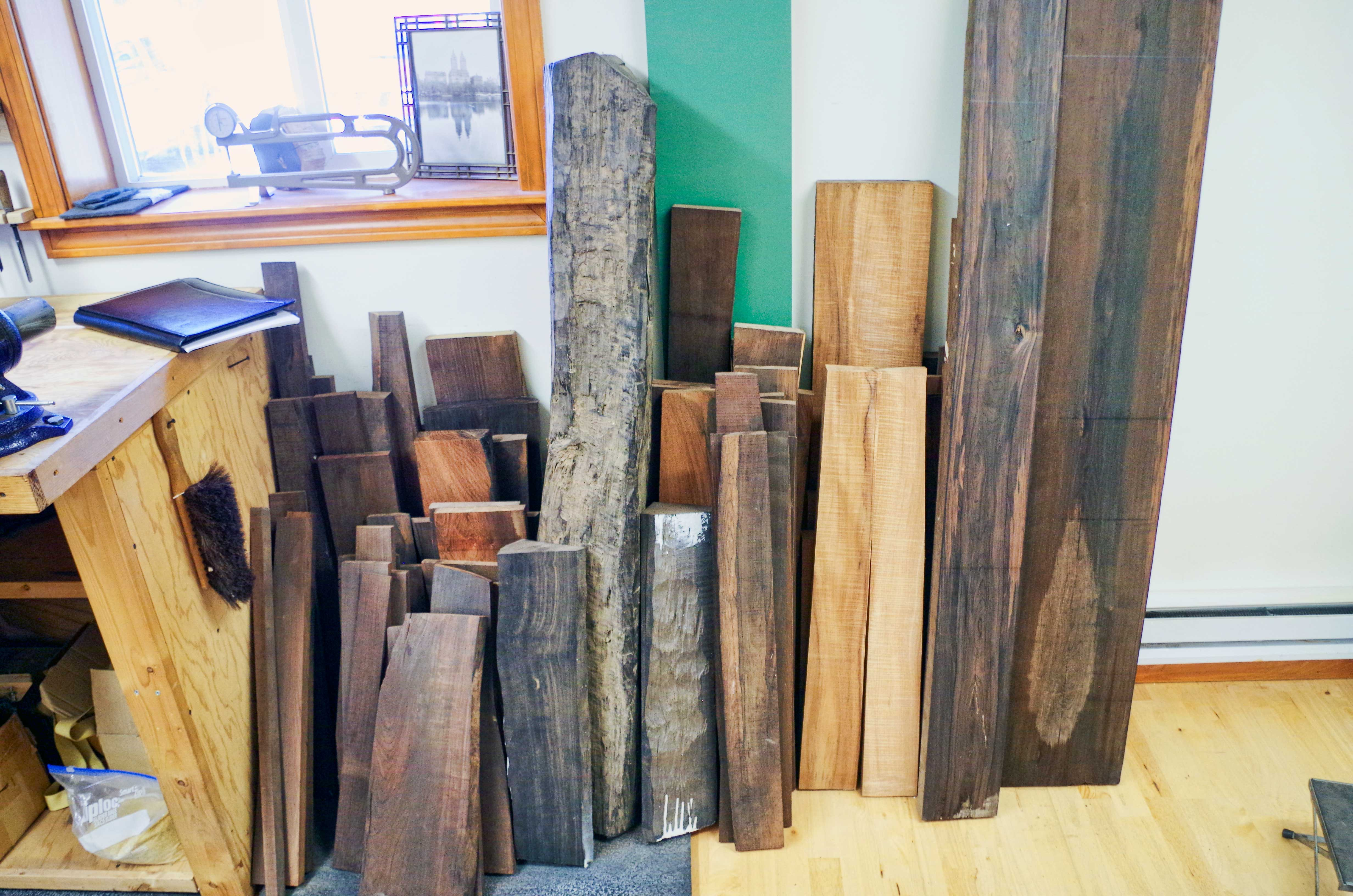 One of Several Piles of Exotic Woods